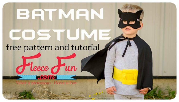 Classic Batman Cape Free Pattern