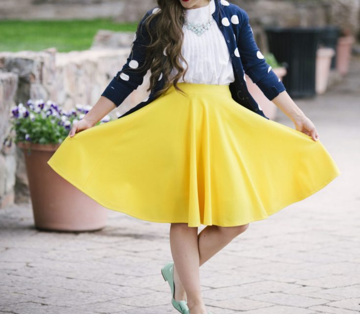 Knit Fabric Circle Skirt Tutorial
