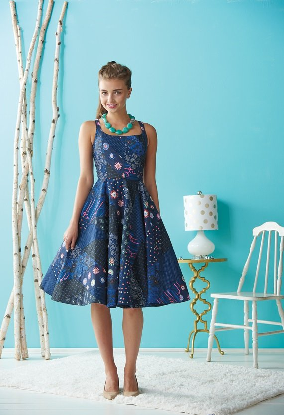 Flirty Paper Pieced Dress: Free Sewing Pattern