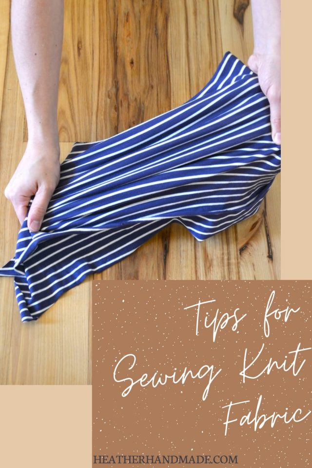 tips for sewing knit fabric