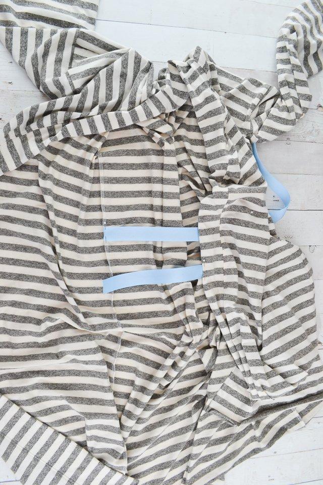 pin ties on robe