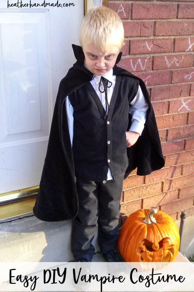 easy diy vampire costume