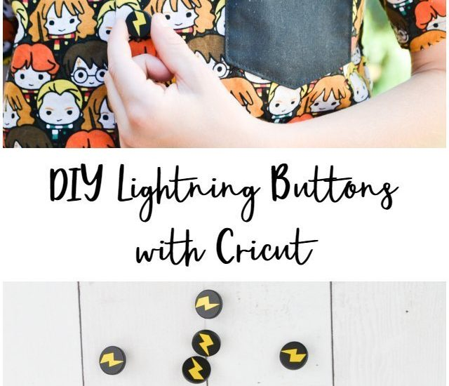lightning buttons with cricut