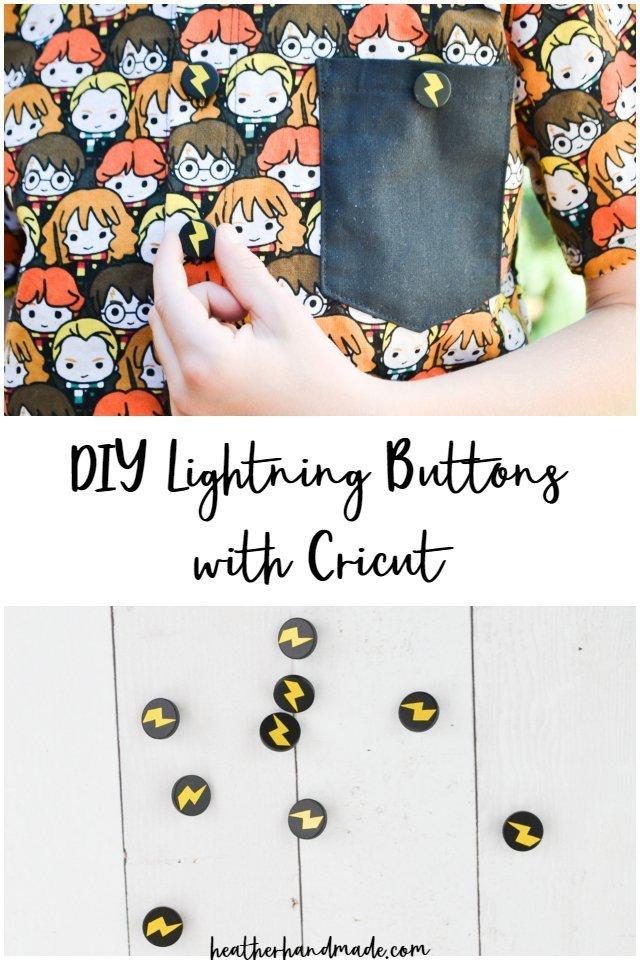 DIY Lightning Buttons with Cricut