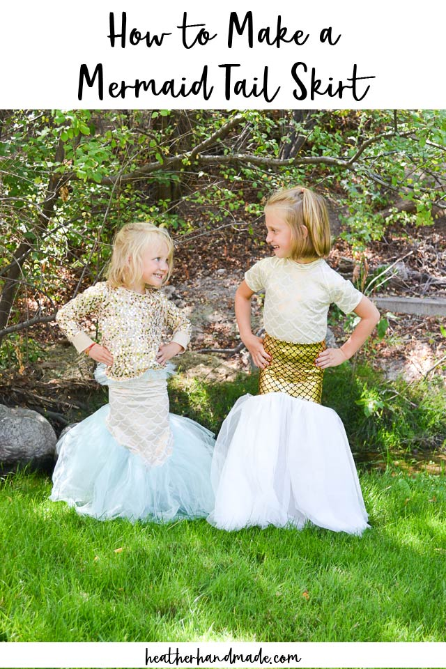 make a mermaid tail skirt