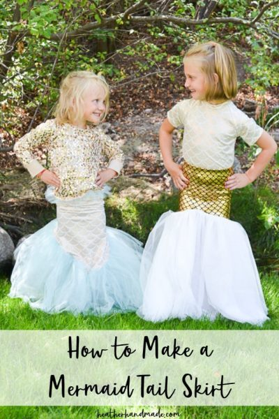 make a mermaid tail skirt