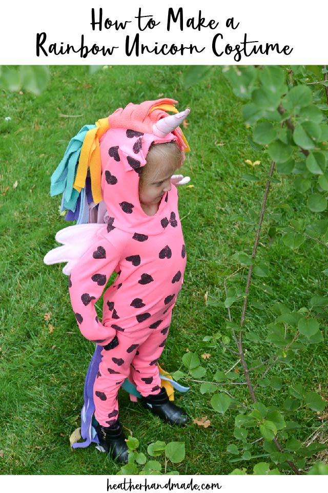 make a rainbow unicorn costume