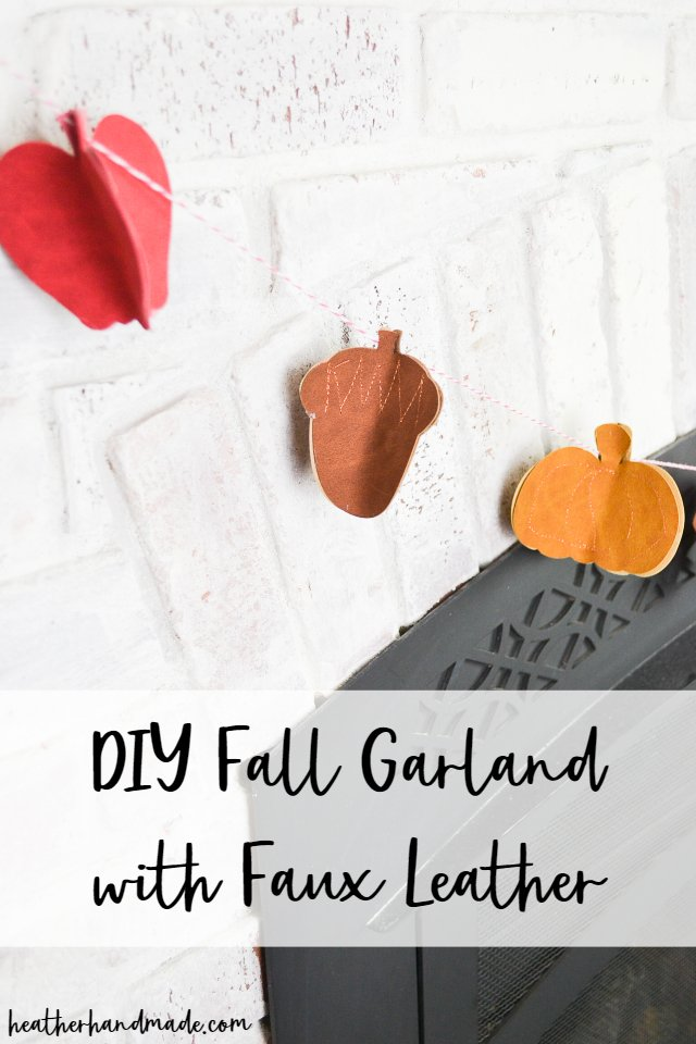 DIY Fall Garland with Faux Leather