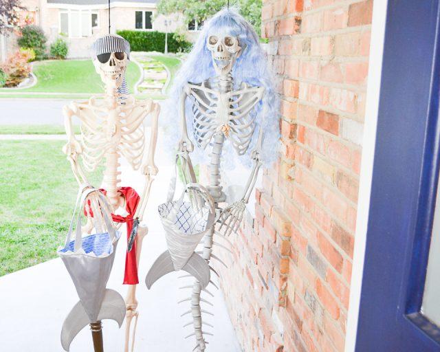 skeletons trick or treating