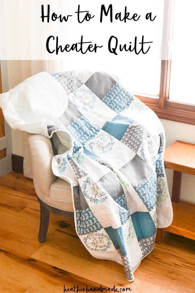 make a cheater quilt