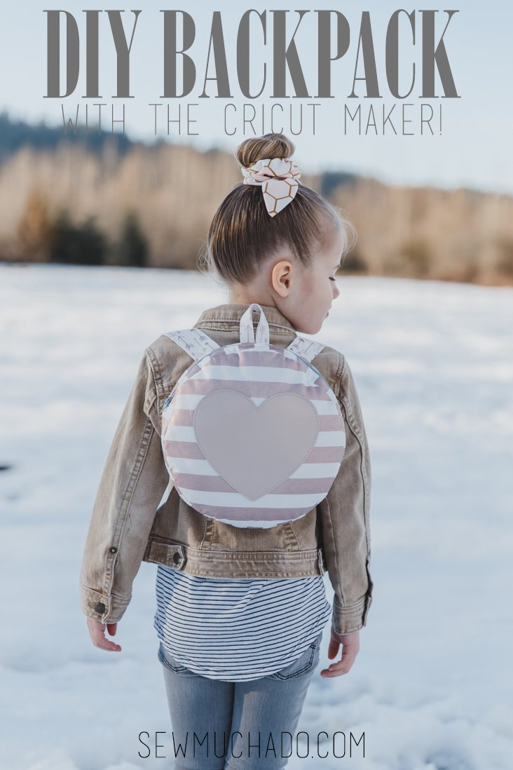DIY Toddler Backpack with the Cricut Maker