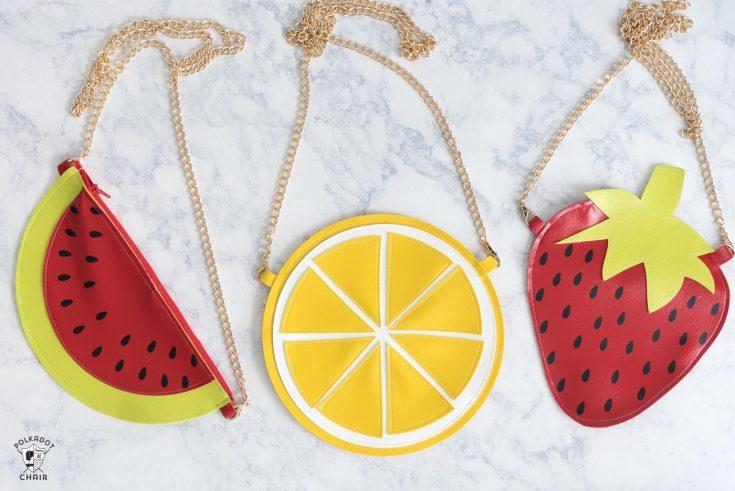 DIY Fruit Crossbody Bag Patterns