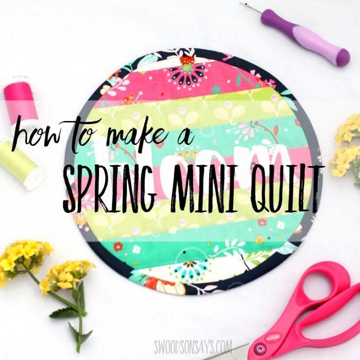 Mini Cricut Maker Quilt tutorial