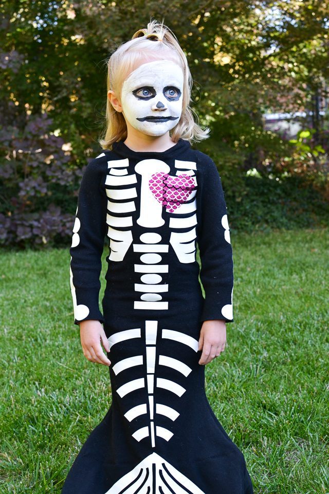 skeleton mermaid costume