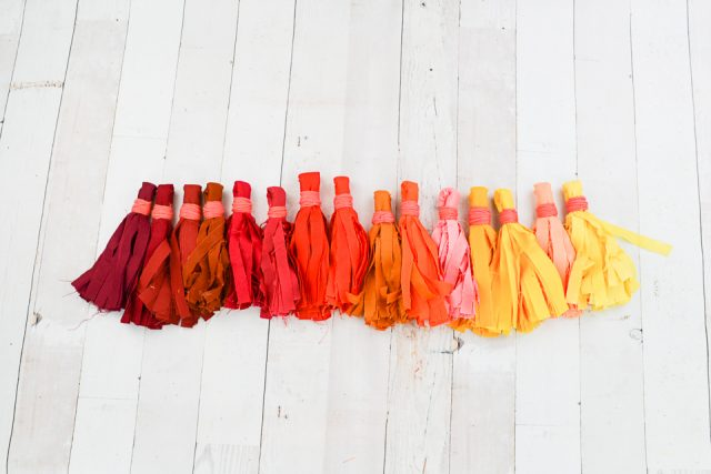 fall fabric tassels