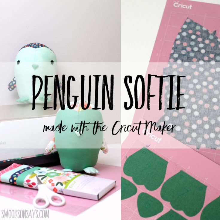 Penguin sewing pattern for the Cricut Maker