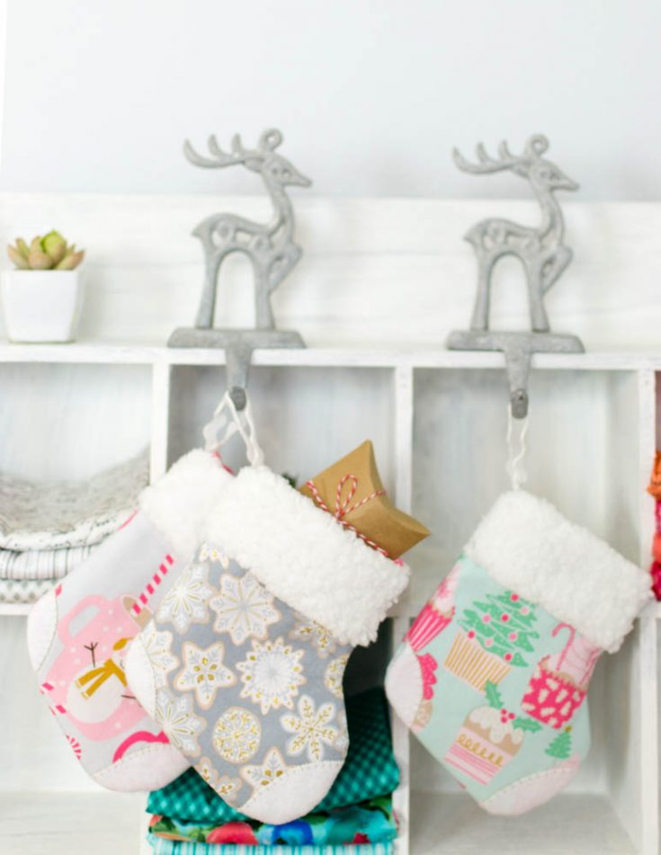 Adorable Mini Christmas Stocking {free pattern & tutorial}