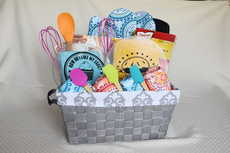 DIY Colorful Kitchen Gift Basket