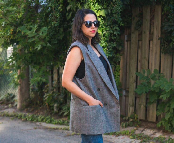Men's Blazer to Sleeveless Coat