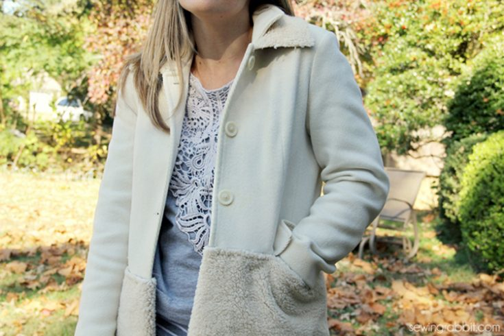 Texture Sherpa Block Coat