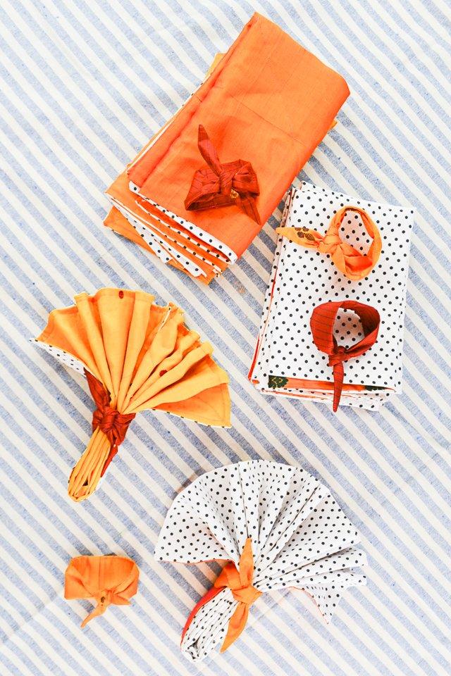diy napkins sew