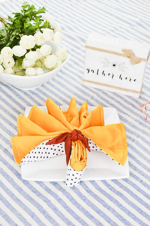 diy fabric napkins