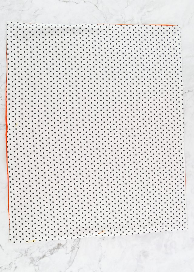 sew fabric around