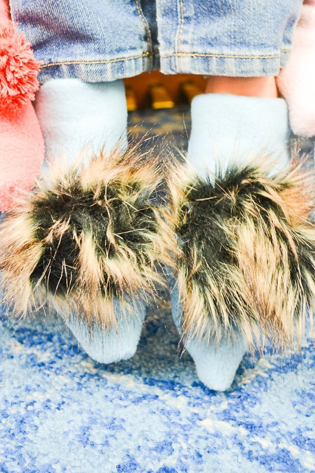diy slippers faux fur
