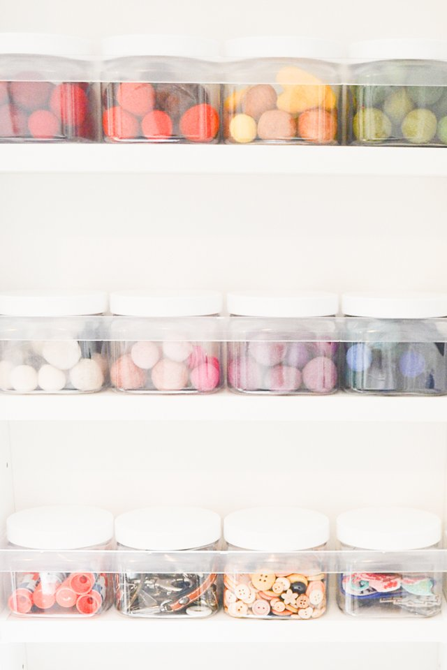 organize sewing room