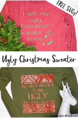ugly sweater svg cut file