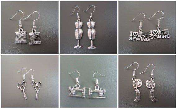 Sewing Earrings