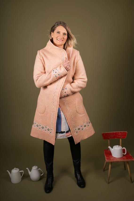 Blanket to Coat Refashion