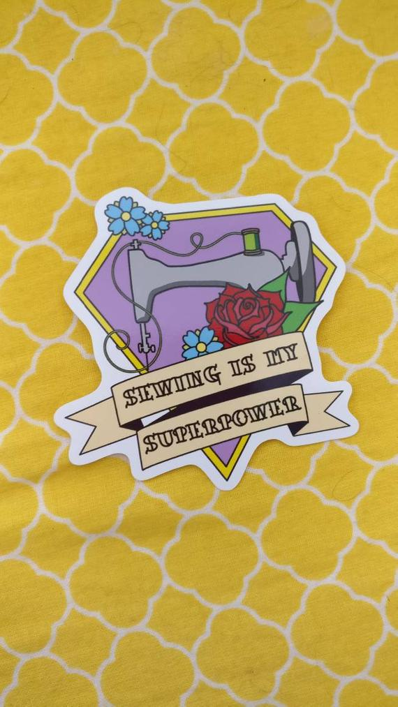 Superpower Sewing Vinyl Sticker