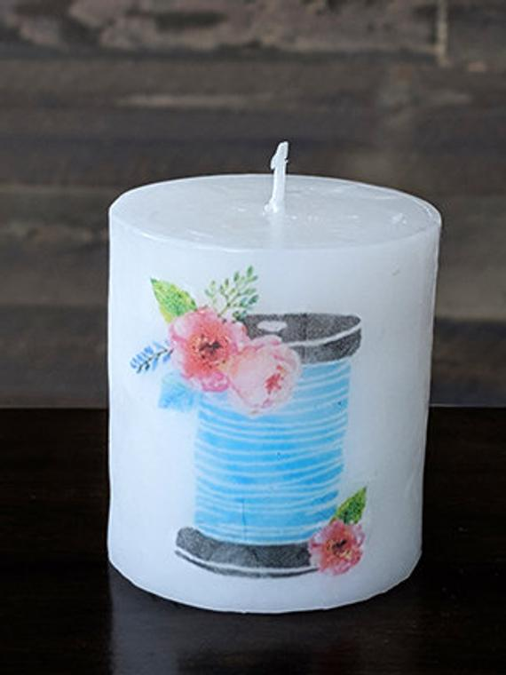 Thread Spool Candle