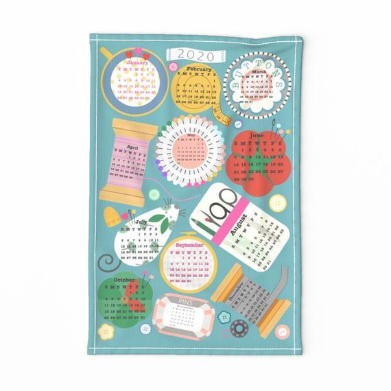 2020 Sewing Tea Towel Calendar