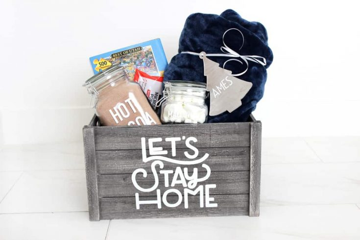 "Easy Personalized ""Night In"" Gift Basket Idea"