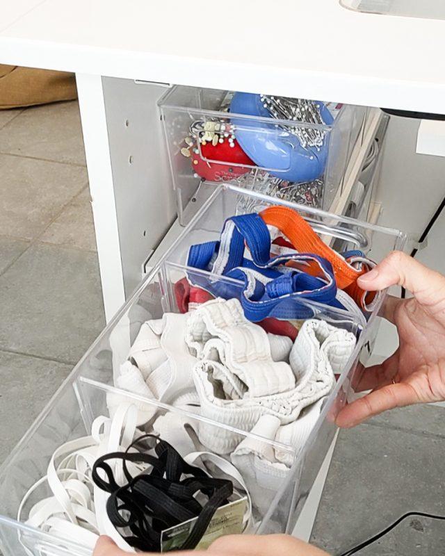 organized elastic sew