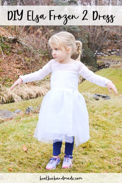 DIY Elsa Frozen 2 Dress