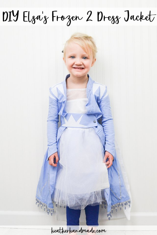 diy elsa frozen 2 jacket dress