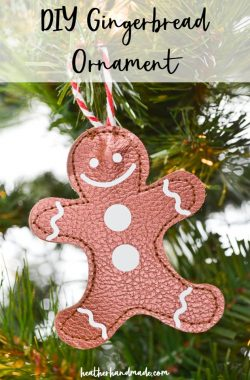 diy gingerbread ornaments