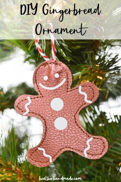 diy gingerbread ornaments