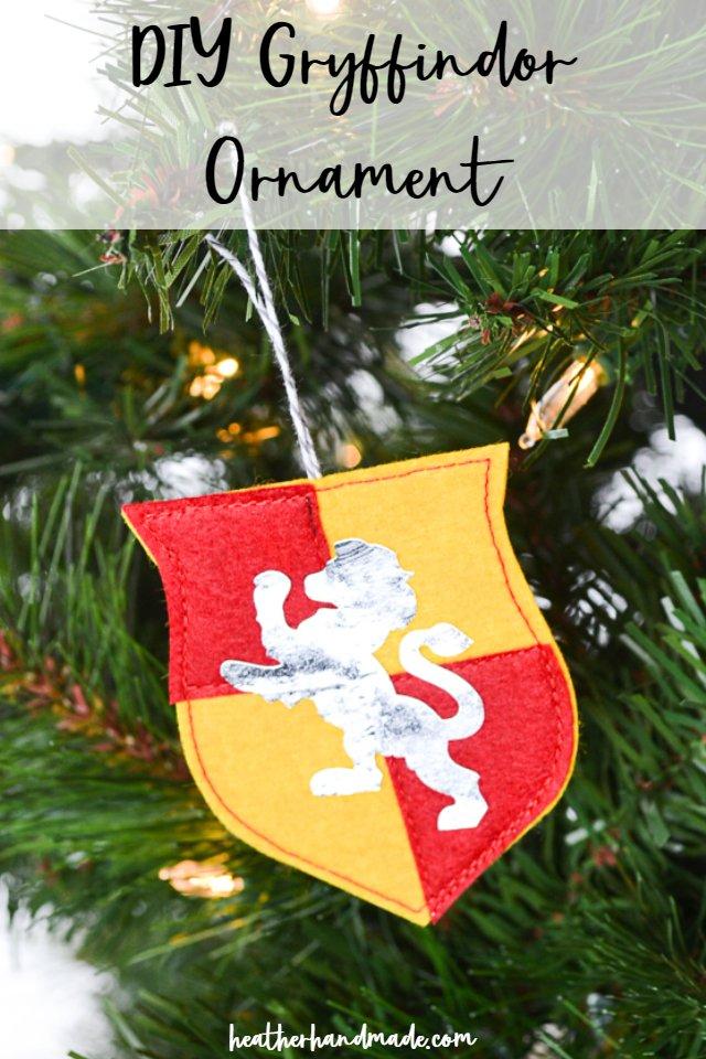 gryffindor ornament diy