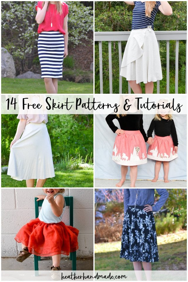 19Free Skirt Patterns and Tutorials