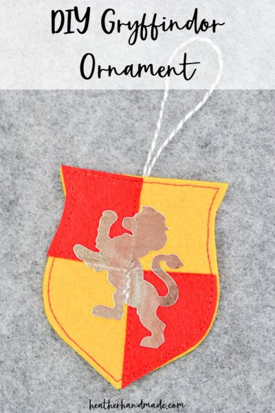 diy gryffindor ornament