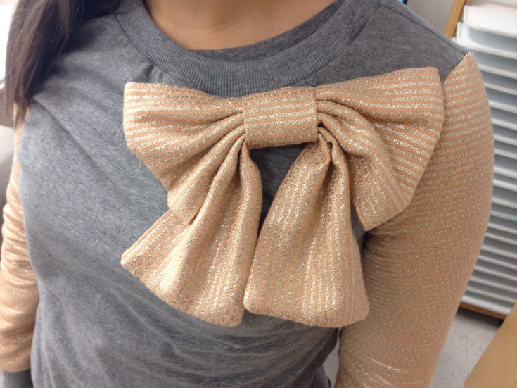 Kate Spade Bow sweater hack