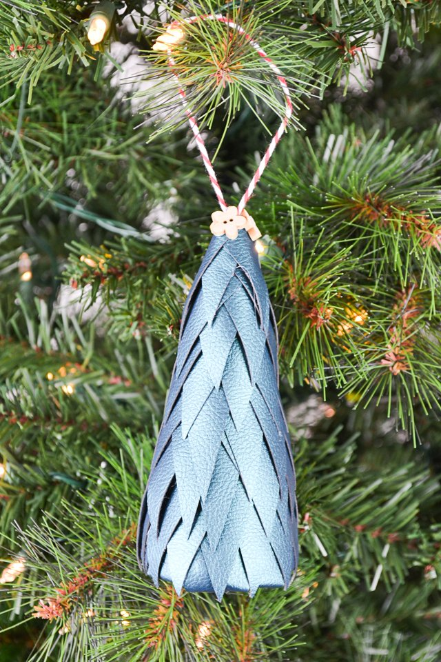 diy leather ornament