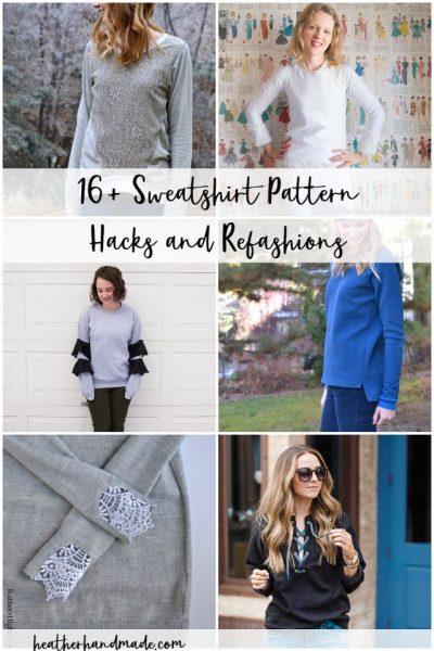 16 Sweatshirt Pattern Hacks and Refashions