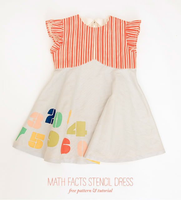 DIY Math Facts Stencil Dress