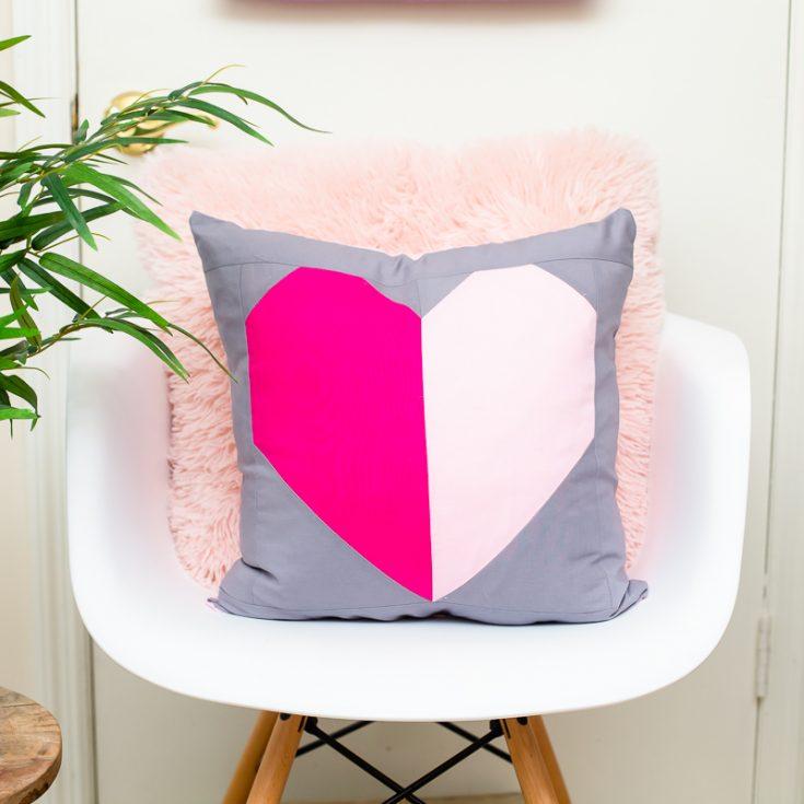 Heart Block Pillow Pattern Quilt Tutorial