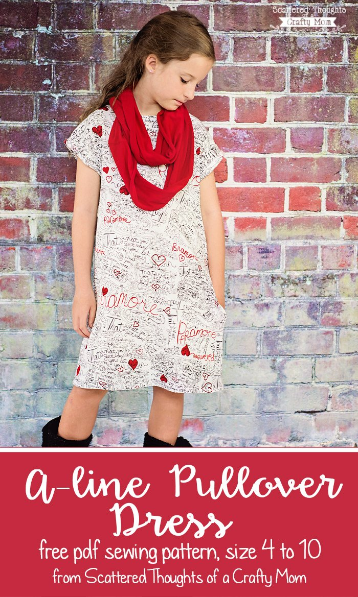 Girl's A-line Pullover Dress Free Pattern